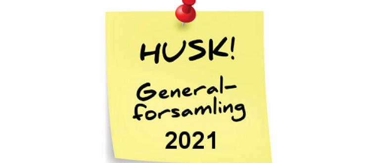 Ordinær generalforsamling for 2021